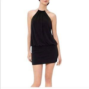 Laundry Shelli Segal Halter Gold 90's Black Dress